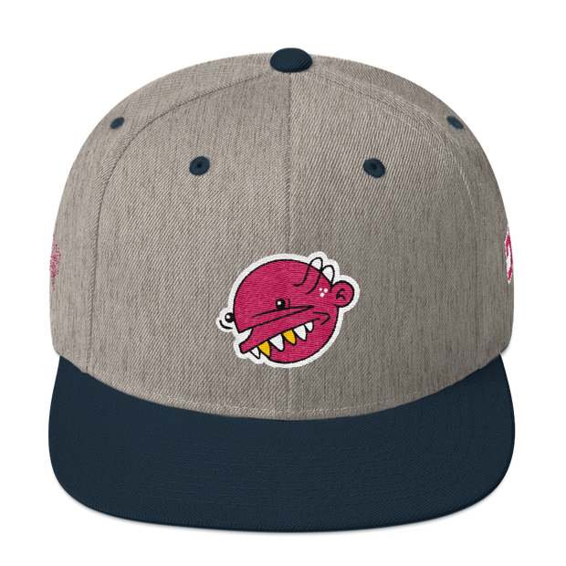 Pink Goop Head 5 Panel Snapback Goopmassta hat Pink Goop Head 5 Panel Snapback Pink Goop Head 5 Panel Snapback - Devious Elements Apparel