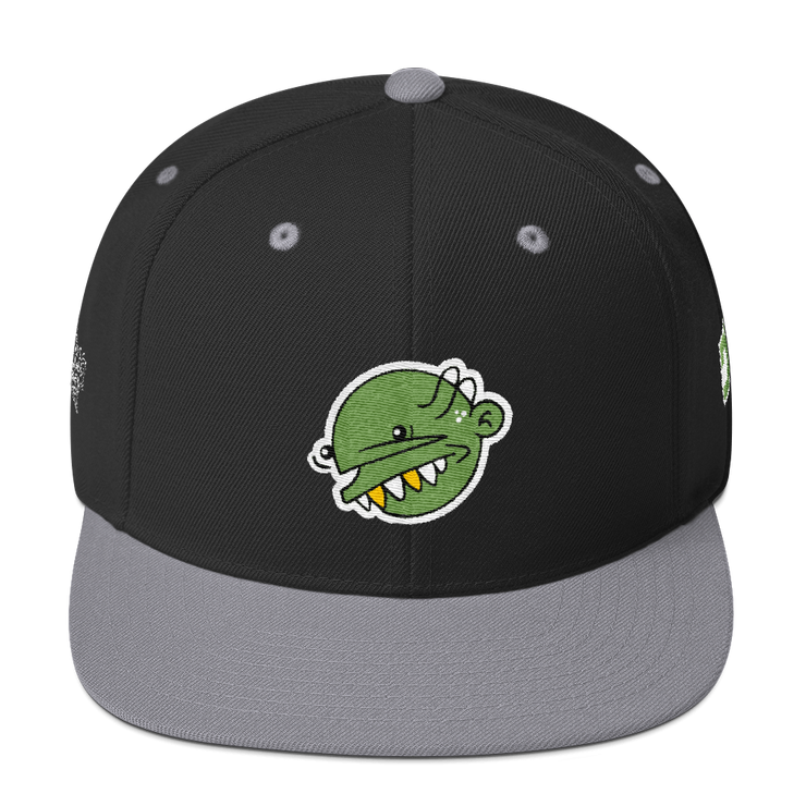 Green Goop Head High Profile Snapback - Devious Elements Apparel