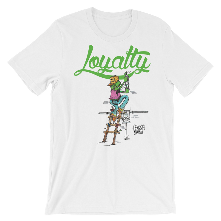 Goop Loyalty Mashup Green Unisex Graphic Crew T-shirt - Devious Elements Apparel