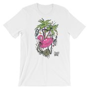 Flamingo Floatie Unisex Graphic Crew T-shirt - Devious Elements Apparel