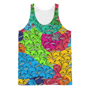 Goop Heads Rainbow Camo Pattern Cut-&-Sew Unisex Tank Goopmassta Tank Goop Heads Rainbow Camo Pattern Cut-&-Sew Unisex Tank Goop Heads Rainbow Camo Pattern Cut-&-Sew Unisex Tank - Devious Elements Apparel