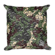 Goop Heads Camo Pattern Print Square Pillow Goopmassta Pillow Goop Heads Camo Pattern Print Square Pillow Goop Heads Camo Pattern Print Square Pillow - Devious Elements Apparel