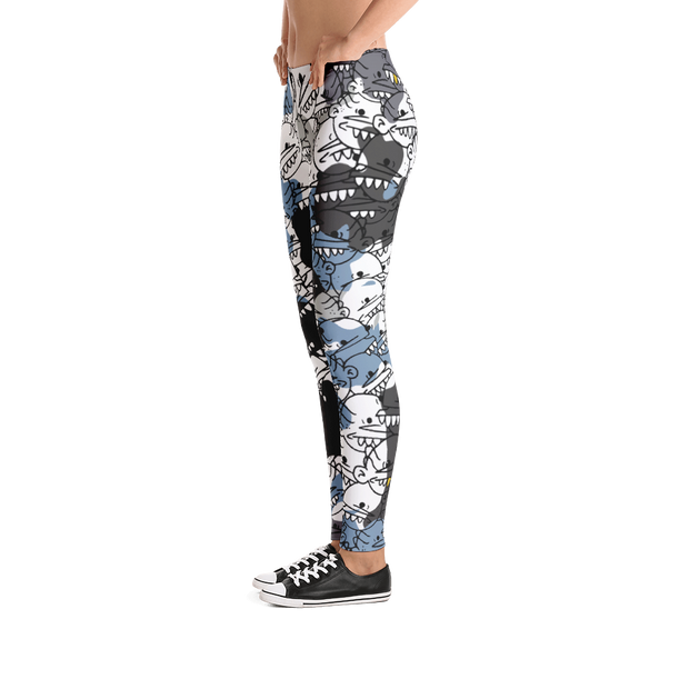 Goop Heads Camo Pattern Print Leggings - Devious Elements Apparel