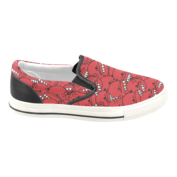 Goop Heads Solid Pattern Ladies Canvas Slip On Sneaker Goopmassta shoes Goop Heads Solid Pattern Ladies Canvas Slip On Sneaker Goop Heads Solid Pattern Ladies Canvas Slip On Sneaker - Devious Elements Apparel