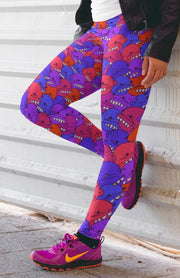 Goop Heads Berries Pattern Print Leggings Goopmassta Leggings Goop Heads Berries Pattern Print Leggings Goop Heads Berries Pattern Print Leggings - Devious Elements Apparel
