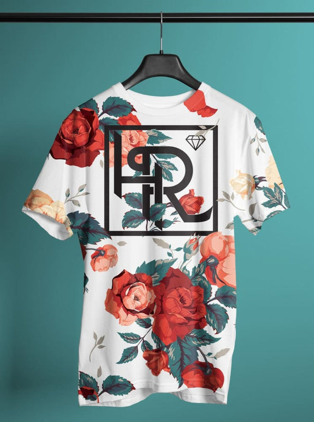 Hialeah Raised Premium Treads Floral White - Devious Elements Apparel