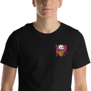 Ice Cream Monster Chest Embroidery Unisex Crew T-shirt - Devious Elements Apparel