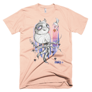 Owl & Hummingbird Unisex Graphic Crew T-shirt - Devious Elements Apparel