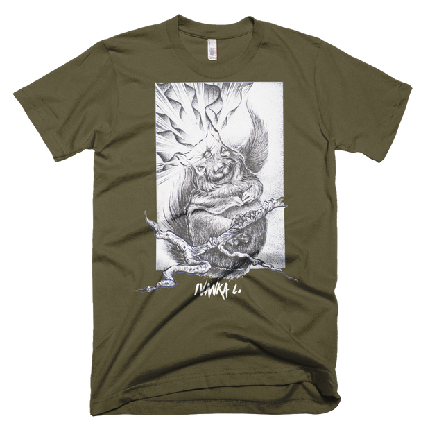 Third Eye Squirrel Unisex Graphic Crew T-shirt - Devious Elements Apparel