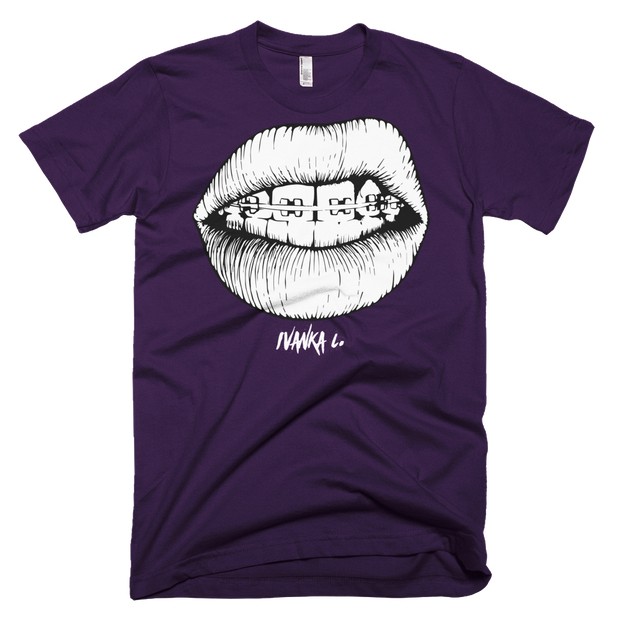 GRILLIN Braces Lips Unisex Graphic Crew T-shirt - Devious Elements Apparel
