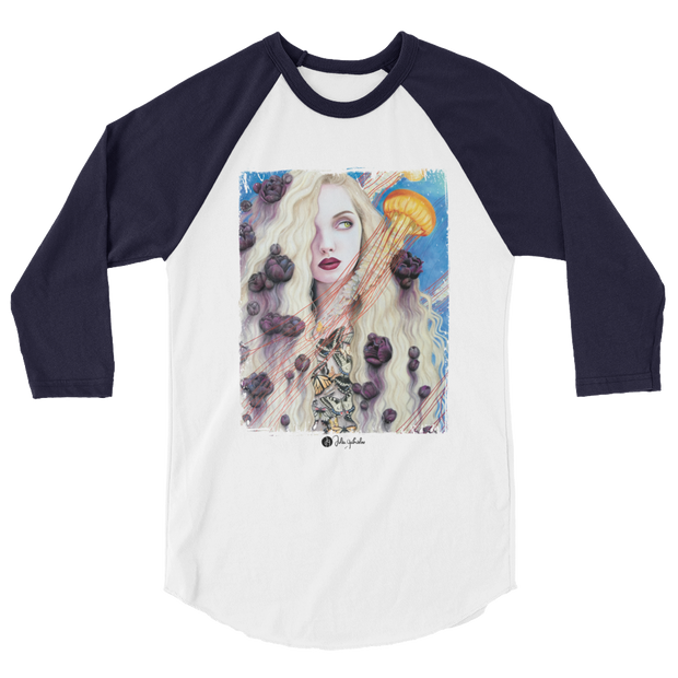 Curious Dreams 3/4 Sleeve Unisex Crew T-shirt Julia Gabrielov 3/4 Sleeve Raglan Curious Dreams 3/4 Sleeve Unisex Crew T-shirt Curious Dreams 3/4 Sleeve Unisex Crew T-shirt - Devious Elements Apparel