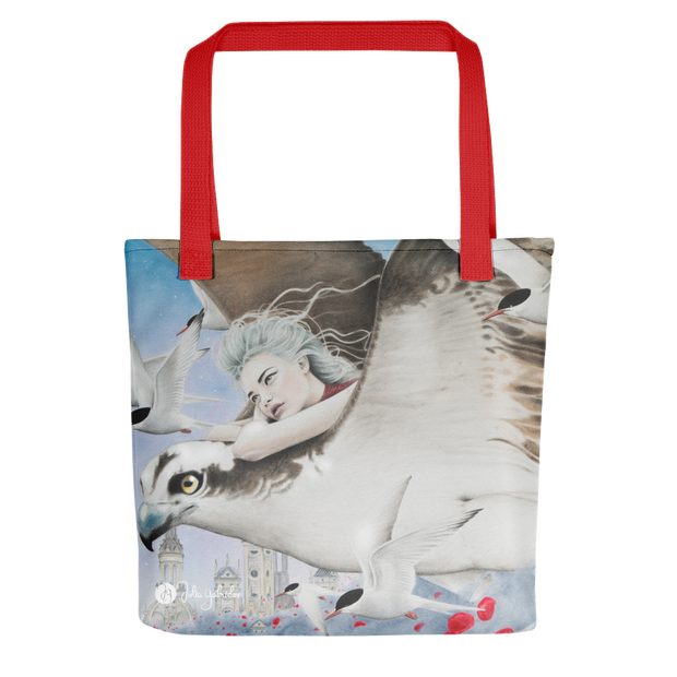 Flight Between Dreams Print Tote Bag Julia Gabrielov Tote Flight Between Dreams Print Tote Bag Flight Between Dreams Print Tote Bag - Devious Elements Apparel