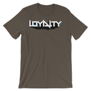 Loyalty 3D Block Graff Unisex Graphic Crew T-shirt Loyalty Shirt Loyalty 3D Block Graff Unisex Graphic Crew T-shirt Loyalty 3D Block Graff Unisex Graphic Crew T-shirt - Devious Elements Apparel