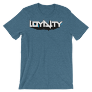 Loyalty 3D Block Graff Unisex Graphic Crew T-shirt - Devious Elements Apparel