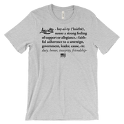 Loyalty Definition Unisex Crew T-shirt Loyalty Shirt Loyalty Definition Unisex Crew T-shirt Loyalty Definition Unisex Crew T-shirt - Devious Elements Apparel