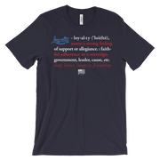 Loyalty Definition Flag Red White & Blue Unisex Crew T-shirt - Devious Elements Apparel