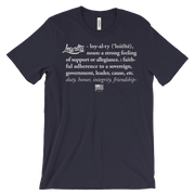 Loyalty Definition Unisex Crew T-shirt - Devious Elements Apparel
