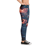 Lava Pour Print Leggings - Devious Elements Apparel