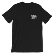 One Love Embroidery Chest Unisex Crew T-Shirt - Devious Elements Apparel