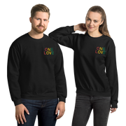 One Love Tri Color Embroidered Unisex Crew Sweatshirt Carlos Solano Sweatshirt One Love Tri Color Embroidered Unisex Crew Sweatshirt One Love Tri Color Embroidered Unisex Crew Sweatshirt - Devious Elements Apparel