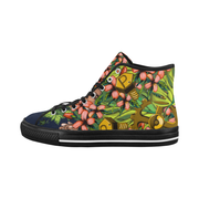 Mech Florale Burst Ladies Canvas High Top Sneaker Pixel Pancho shoes Mech Florale Burst Ladies Canvas High Top Sneaker Mech Florale Burst Ladies Canvas High Top Sneaker - Devious Elements Apparel