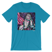 Praying Hands Unisex Crew T-Shirt Carlos Solano Shirt Praying Hands Unisex Crew T-Shirt Praying Hands Unisex Crew T-Shirt - Devious Elements Apparel