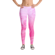 Pink Fur Texture Print Leggings - Devious Elements Apparel