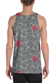 Rose Grey Floral Pattern Print Cut-&-Sew Unisex Tank Carlos Solano Tank Rose Grey Floral Pattern Print Cut-&-Sew Unisex Tank Rose Grey Floral Pattern Print Cut-&-Sew Unisex Tank - Devious Elements Apparel