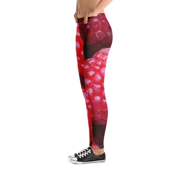Raspberries Print Leggings - Devious Elements Apparel