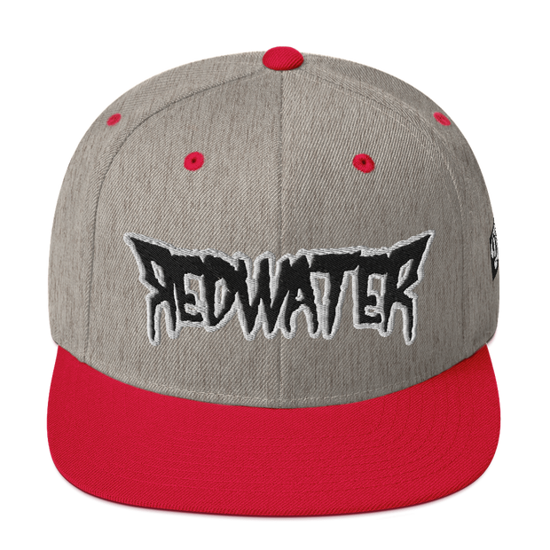 RedWater Terror Black Logo High Profile Snapback Hat Derek Garcia hat RedWater Terror Black Logo High Profile Snapback Hat RedWater Terror Black Logo High Profile Snapback Hat - Devious Elements Apparel