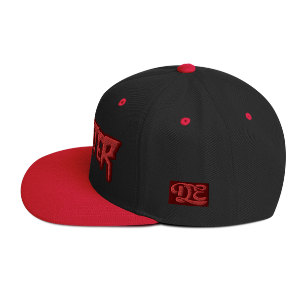 RedWater Terror Red Logo High Profile Snapback Hat