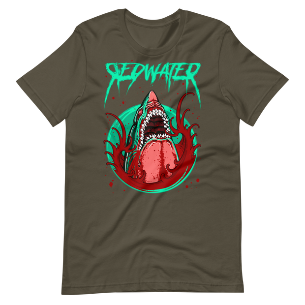 Shark Attack Redwater Unisex Crew T-shirt Derek Garcia Shirt Shark Attack Redwater Unisex Crew T-shirt Shark Attack Redwater Unisex Crew T-shirt - Devious Elements Apparel