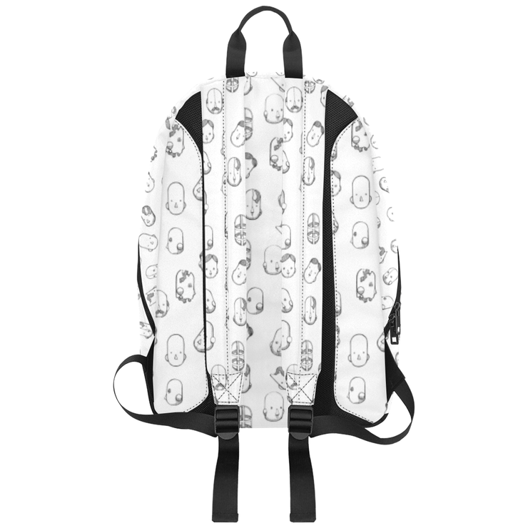 Robot Heads Pattern Large Capacity Travel Backpack Pixel Pancho Large Travel Backpack Robot Heads Pattern Large Capacity Travel Backpack Robot Heads Pattern Large Capacity Travel Backpack - Devious Elements Apparel