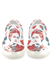 Frida Floral Print Canvas Men's Slip On Low-Top - Devious Elements Apparel