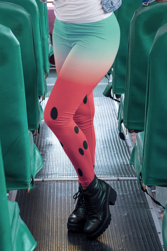 Cool Watermelon Print Leggings - Devious Elements Apparel