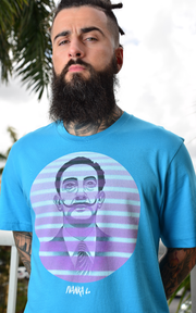 Dali Vice Tones Unisex Graphic Crew T-shirt - Devious Elements Apparel
