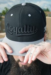 Loyalty Throwback Black on Black Snapback Hat Loyalty hat Loyalty Throwback Black on Black Snapback Hat Loyalty Throwback Black on Black Snapback Hat - Devious Elements Apparel