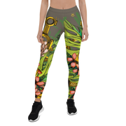 Mech Florale Burst Pattern Print Legging Pixel Pancho Leggings Mech Florale Burst Pattern Print Legging Mech Florale Burst Pattern Print Legging - Devious Elements Apparel