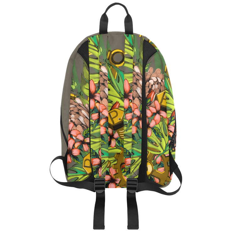 Mech Florale Burst Large Capacity Travel Backpack Pixel Pancho Large Travel Backpack Mech Florale Burst Large Capacity Travel Backpack Mech Florale Burst Large Capacity Travel Backpack - Devious Elements Apparel