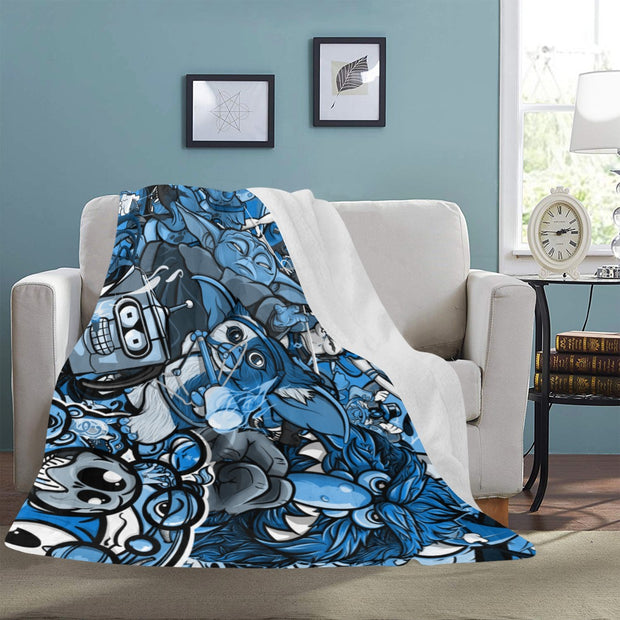 Toon Stash Ultra Soft Micro Fleece Throw Blanket Devious Elements Apparel Throw Blanket Toon Stash Ultra Soft Micro Fleece Throw Blanket Toon Stash Ultra Soft Micro Fleece Throw Blanket - Devious Elements Apparel