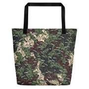 Goop Heads Camo Pattern Print Beach Bag Goopmassta Beach Bag Goop Heads Camo Pattern Print Beach Bag Goop Heads Camo Pattern Print Beach Bag - Devious Elements Apparel