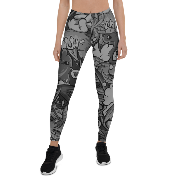 Tropicana Pattern Print Leggings