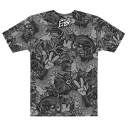 Tropicana Pattern Cut & Sew Unisex Crew T-shirt Enox Art Shirt Tropicana Pattern Cut & Sew Unisex Crew T-shirt Tropicana Pattern Cut & Sew Unisex Crew T-shirt - Devious Elements Apparel