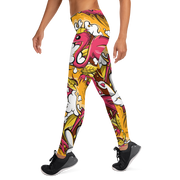 Tropicana Pattern Print Leggings Enox Art Leggings Tropicana Pattern Print Leggings Tropicana Pattern Print Leggings - Devious Elements Apparel