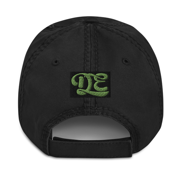 Croquetas & Lime Low Profile Distressed Dad Hat ESPUMA hat Croquetas & Lime Low Profile Distressed Dad Hat Croquetas & Lime Low Profile Distressed Dad Hat - Devious Elements Apparel