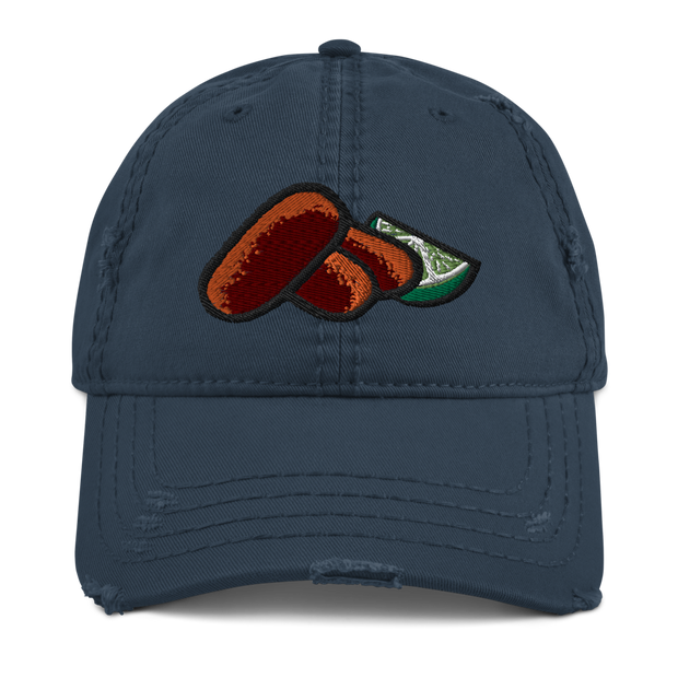 Croquetas & Lime Low Profile Distressed Dad Hat