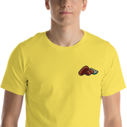 Croquetas & Lime Chest Embroidery Unisex Crew T-shirt
