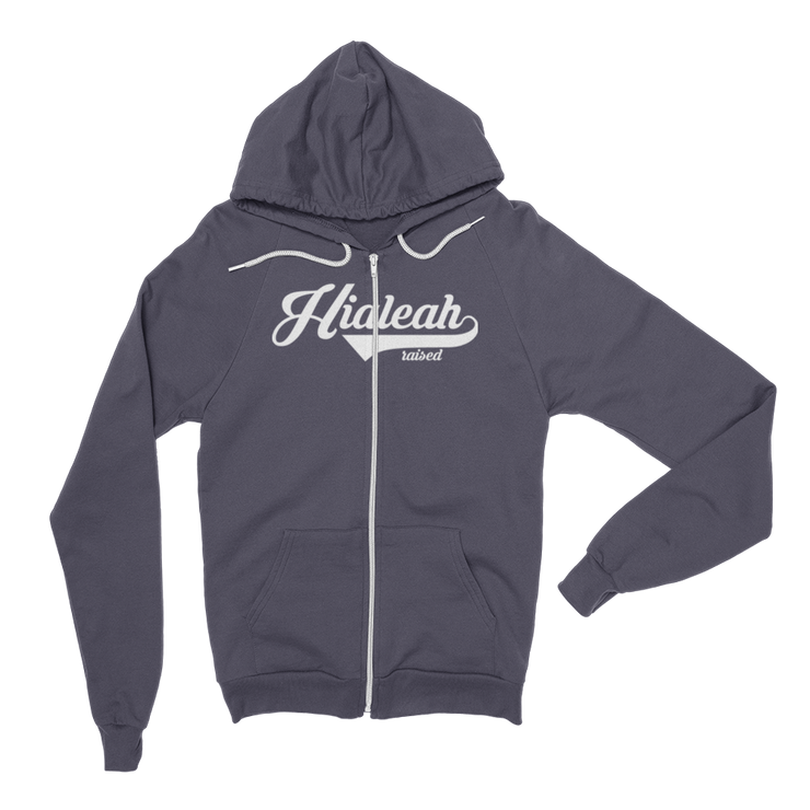 Hialeah Raised Classic Fleece Zip Hoodie - Devious Elements Apparel
