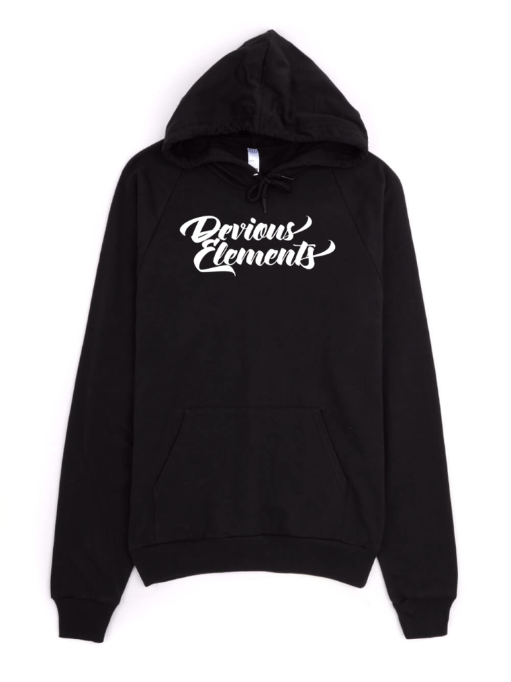Devious Elements Script Logo Pullover Hoodie - Devious Elements Apparel