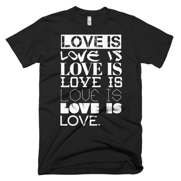 LOVE IS LOVE Graphic Crew Unisex T-shirt - Devious Elements Apparel